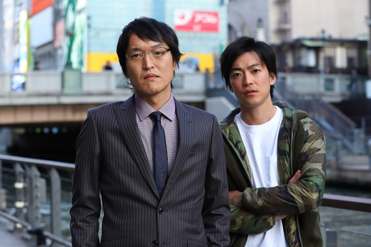 「新・ミナミの帝王 ニンベンの女」に出演する(左から)千原ジュニア、大東駿介。(c)関西テレビ