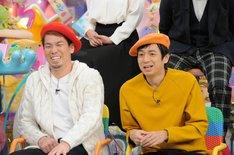 (左から)前田健太、チュートリアル徳井。(c)テレビ朝日