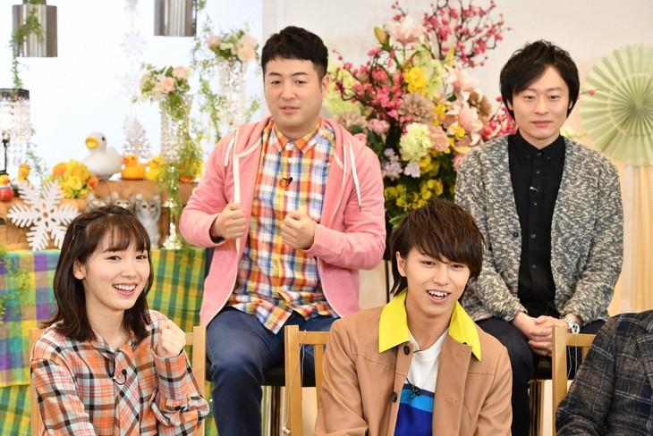 「生き物にサンキュー」に出演する和牛(後列)。(c)TBS