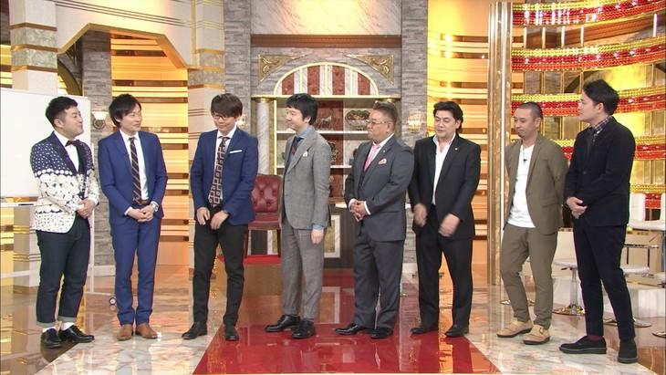 「イッテンモノ」に出演する(左から)和牛、三四郎、サンドウィッチマン、千鳥。(c)テレビ朝日