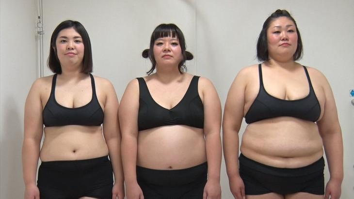 ダイエット企画に挑戦する(左から)紅しょうが・熊元プロレス、堀川
