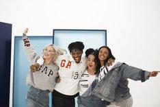 「Logo Remix Collection」グローバルキャンペーン映像の撮影中の様子。