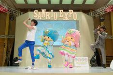 「サンリオ新商品展示会 SANRIO EXPO 2018」に登壇した流れ星。