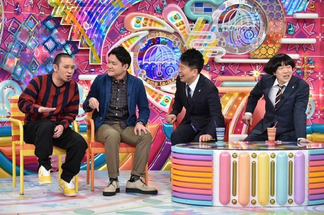 「今年が大事芸人2018」に出演する(左から)千鳥、雨上がり決死隊。(c)テレビ朝日