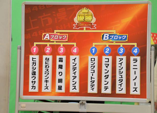 「第48回NHK上方漫才コンテスト」ネタ順 (c)NHK