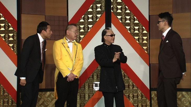 「お笑い演芸館」に出演する(左から)ナイツ塙、マギー司郎、Mr.マリック、ナイツ土屋。(c)BS朝日