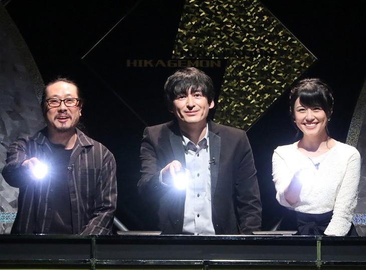 「ひかげモンとひなたモン~こんなんできるんどんなやつ?~」に出演する、MCの博多大吉(中央)と、笑い飯・西田(左)、中島めぐみアナ(右)。(c)関西テレビ