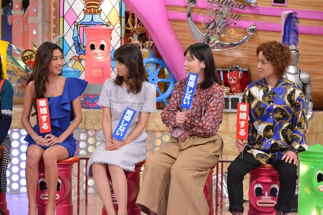 左から青山めぐ、小倉優子、尼神インター。(c)読売テレビ