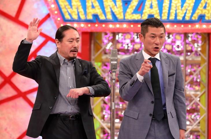 「漫才マン the プラチナ」に出演する、笑い飯。(c)関西テレビ