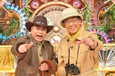 「ヤバいよ!怪奇探偵団」MCの(左から)出川哲朗、梅沢富美男。(c)TBS
