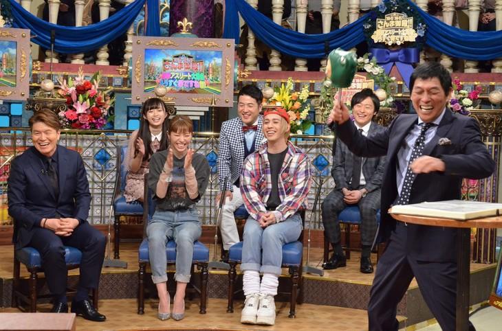 「踊る!さんま御殿!! 豪華アスリート大集合もうすぐ春ですね祭!」のワンシーン。(c)日本テレビ