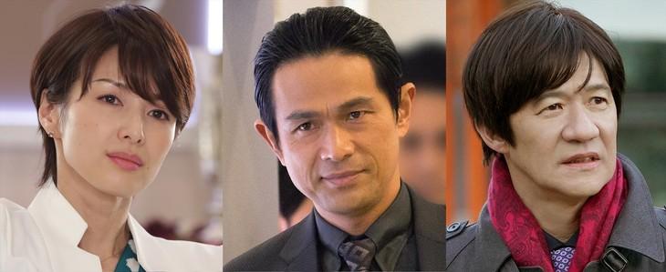 新ドラマ「コンフィデンスマンJP」にゲスト出演する(左から)吉瀬美智子、江口洋介、内村光良。(c)フジテレビ