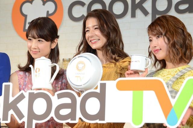 左から小倉優子、スザンヌ、舟山久美子。