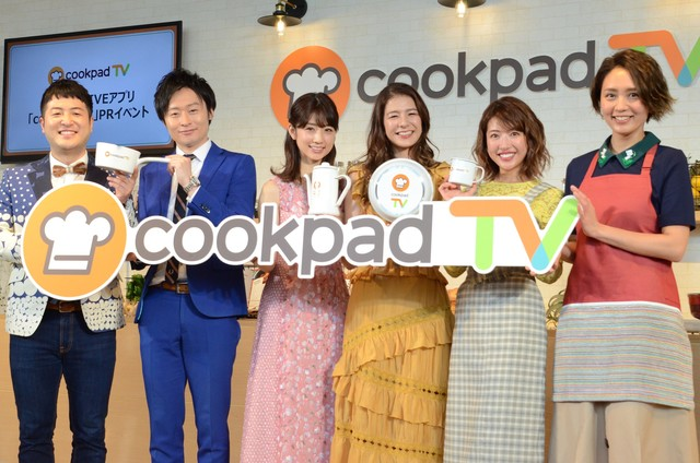 左から和牛、小倉優子、スザンヌ、舟山久美子、和田明日香。