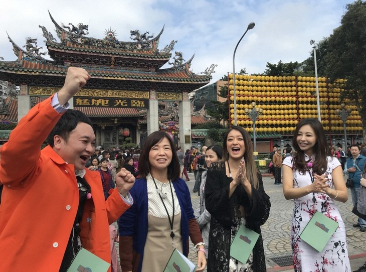 「旅ずきんちゃん」で台湾旅を繰り広げる(左から)鬼ヶ島アイアム野田、大久保佳代子、池田美優、インリン。(c)CBC