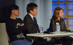 聞き手の(左から)バッファロー吾郎・竹若、平成ノブシコブシ徳井、福本愛菜。