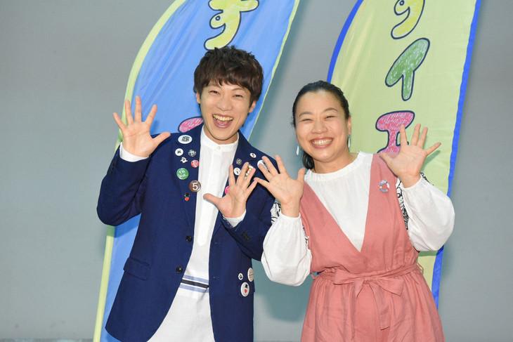 「すイエんサー」新MCの(左から)横山だいすけ、いとうあさこ。(c)NHK