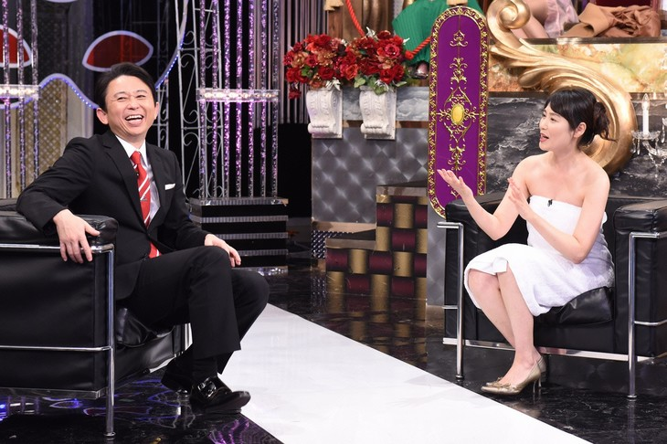 左から有吉弘行、牧野光子。(c)日本テレビ