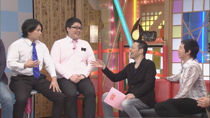「本能Z」に出演する(左から)マヂカルラブリー、東野幸治、今田耕司。(c)CBC