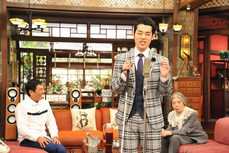 「さんまのまんま春SP」に出演する濱田祐太郎、明石家さんま(左)、樹木希林(右)。(c)関西テレビ