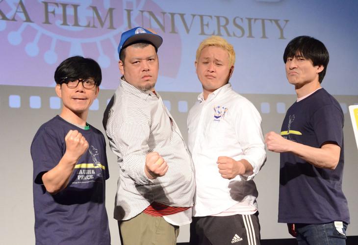 左からバッファロー吾郎・竹若、野性爆弾くっきー、ガリットチュウ福島、なだぎ武。
