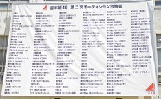 「吉本坂46」メンバーオーディションの2次審査通過者。