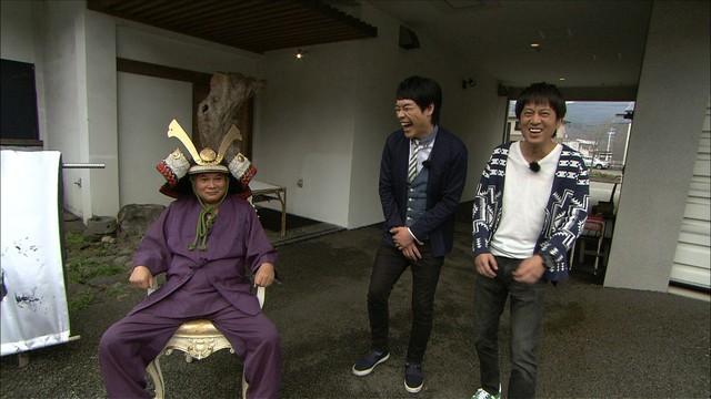 山形を訪れるブラックマヨネーズ吉田(右)、麒麟・川島(中央)。(c)関西テレビ