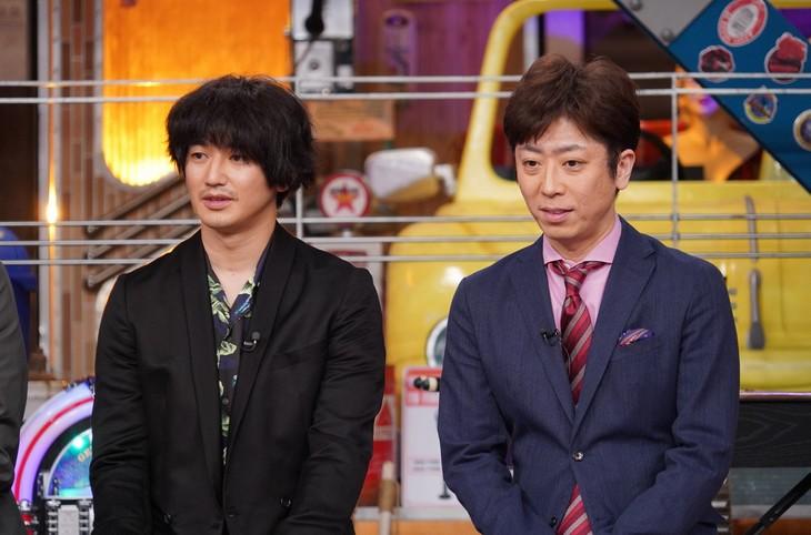 左から瑛太、フットボールアワー後藤。(c)日本テレビ