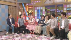 (左から)東野幸治、今田耕司、アユチャンネル、やしろ優、松本明子、フットボールアワー。(c)CBC