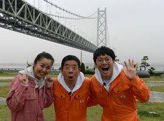 (左から)桂紗綾アナ、西川きよし、ミキ亜生。(c)ABC