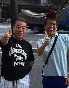 出川哲朗(左)とネプチューン堀内(右)。