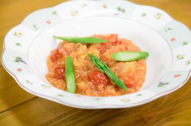 オスミックトマトを使った料理。(c)日本テレビ