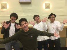 左から東京03豊本、ますだおかだ岡田、東京03飯塚、東京03角田。(c)NHK