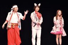(左から)NON STYLE石田、小澤亮太、川村真洋。