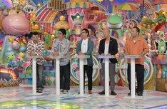 (左から)ケンドーコバヤシ、おぎやはぎ、バイきんぐ。(c)テレビ朝日
