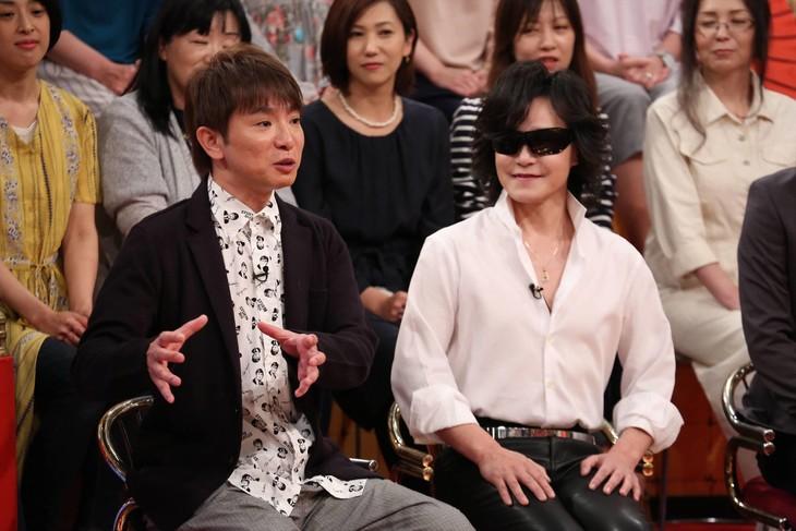 「梅沢富美男のズバッと聞きます!」に出演する(左から)よゐこ濱口、Toshl。(c)フジテレビ