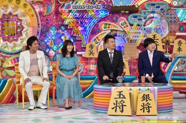(左から)狩野英孝、瀧本美織、雨上がり決死隊。(c)テレビ朝日