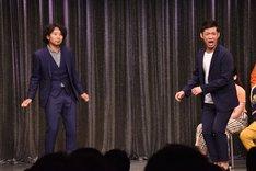 須藤凜々花にジョイマンと勘違いされたことから、ジョイマンのネタを披露したイシバシハザマ。