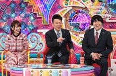 雨上がり決死隊と指原莉乃(左)。(c)テレビ朝日
