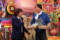 (左から)三四郎・小宮、アンガールズ田中。(c)テレビ朝日