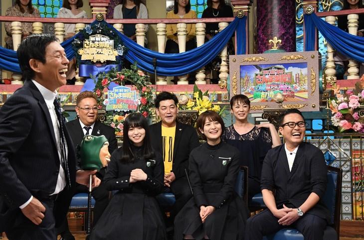 「踊る踊る踊る!さんま御殿 この夏超アツい美女&最強おバカ軍団暴走祭」のワンシーン。(c)日本テレビ