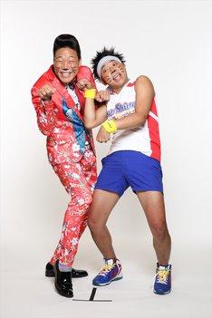 「常滑お笑い大使」の(左から)ANZEN漫才みやぞん、サンシャイン池崎。