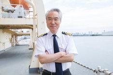 モロ師岡演じるベテラン船長・新井三郎。
