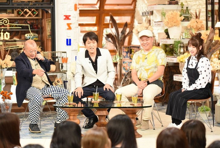 「A-Studio」に出演する千原兄弟(中央)。(c)TBS