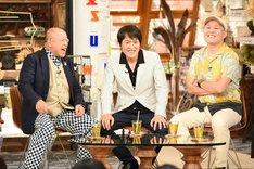 (左から)笑福亭鶴瓶、千原兄弟。(c)TBS