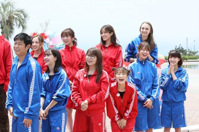 「ロンハー水泳2018」のワンシーン。(c)テレビ朝日