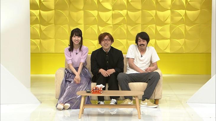 左から柏木由紀、かたつむり岡部、かたつむり林。(c)日本テレビ