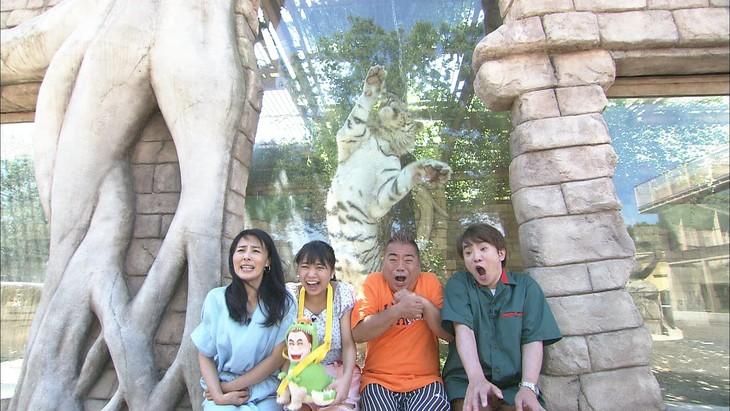 「出川哲朗のこれがMAX」に出演する(左から)井森美幸、大原優乃、出川哲朗、よゐこ濱口。(c)フジテレビ