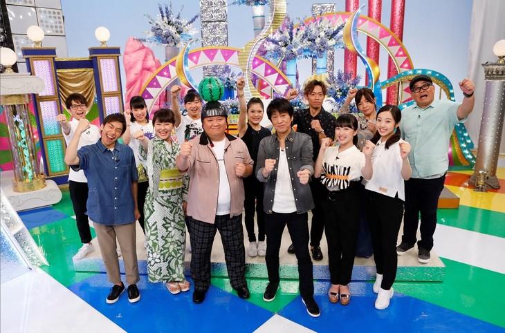 「カンテレ開局60周年特別番組 THE ICE☆ブラマヨのフィギュアオールスター夏祭り」出演者たち。(c)関西テレビ