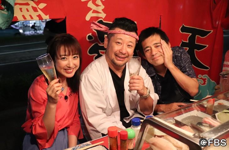 左から川田裕美、ケンドーコバヤシ、博多華丸。